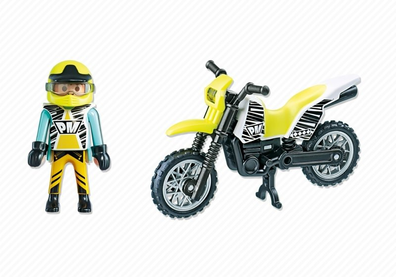 Playmobil 5525 - Cross Bike - Back