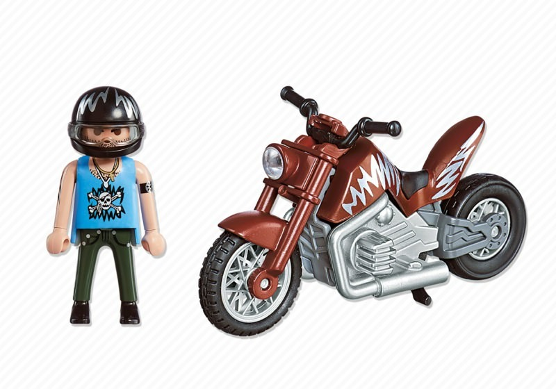 Playmobil 5527 - Muscle Bike - Back