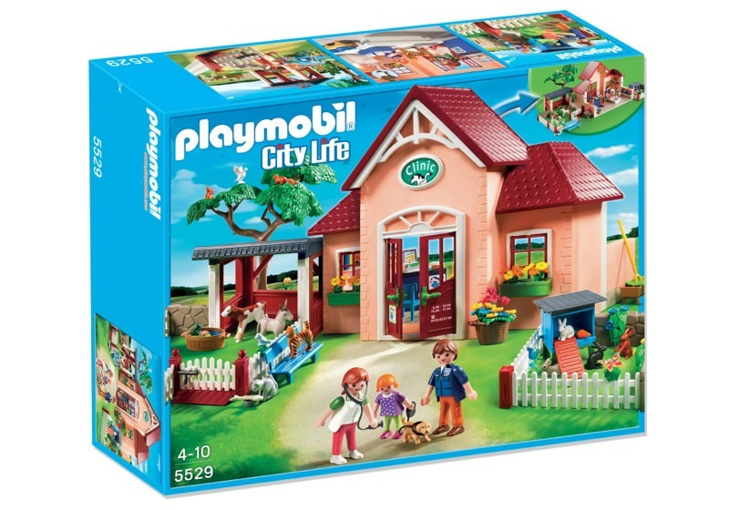 Playmobil 5529 - Vet practice with buildings - Box