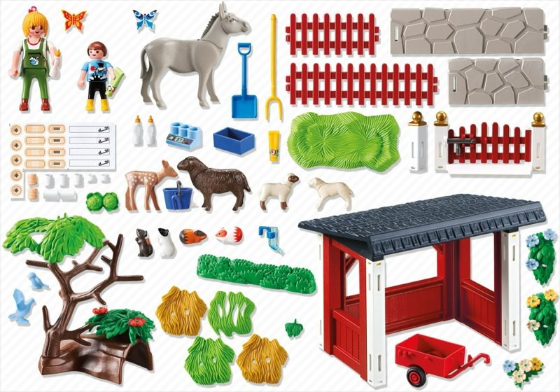 Playmobil 5531 - Animal care station with stable - Back