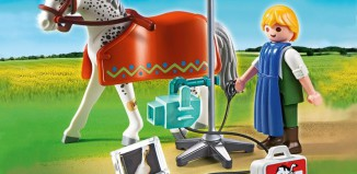 Playmobil - 5533 - Vets Horse with X-Ray Technician