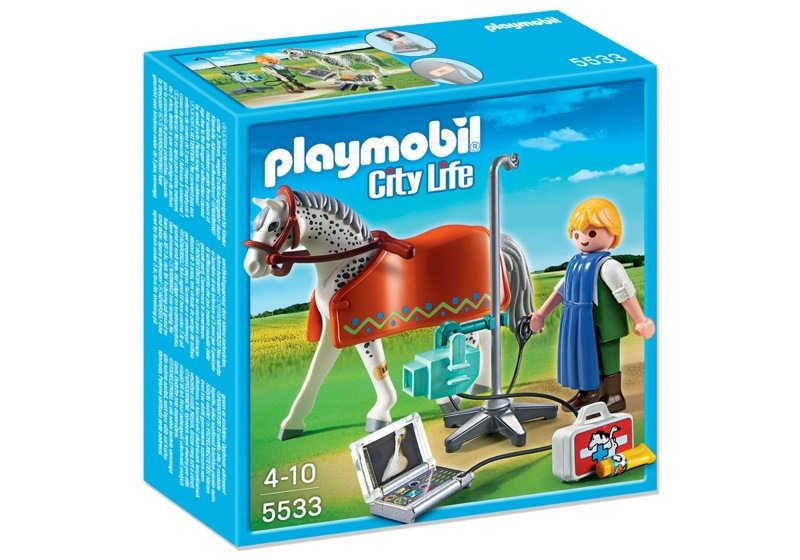 Playmobil 5533 - Vets Horse with X-Ray Technician - Box