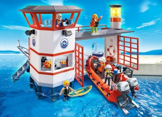 Playmobil - 5539 - Coast guard station with lighthouse