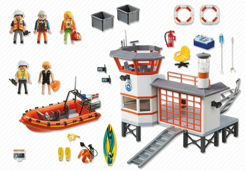 Playmobil 5539 - Coast guard station with lighthouse - Back