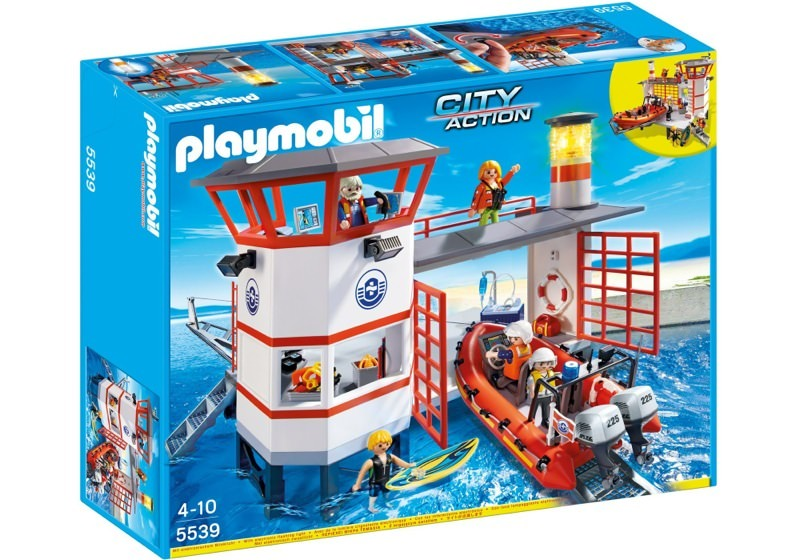 Playmobil 5539 - Coast guard station with lighthouse - Box