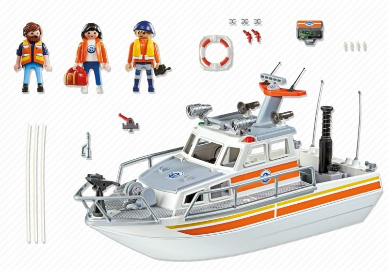 Playmobil 5540 - Rescue boat - Back