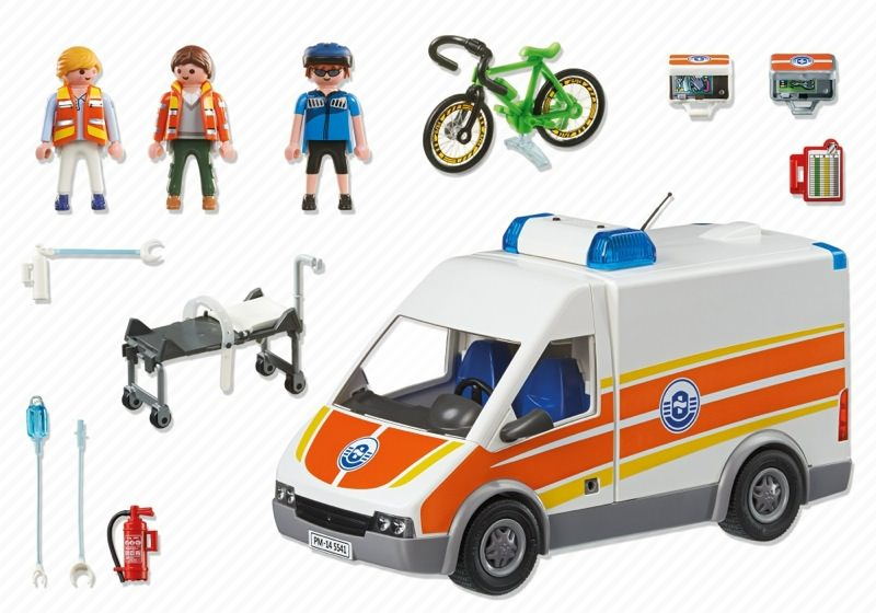Playmobil 5541 - Ambulance with light and sound - Back