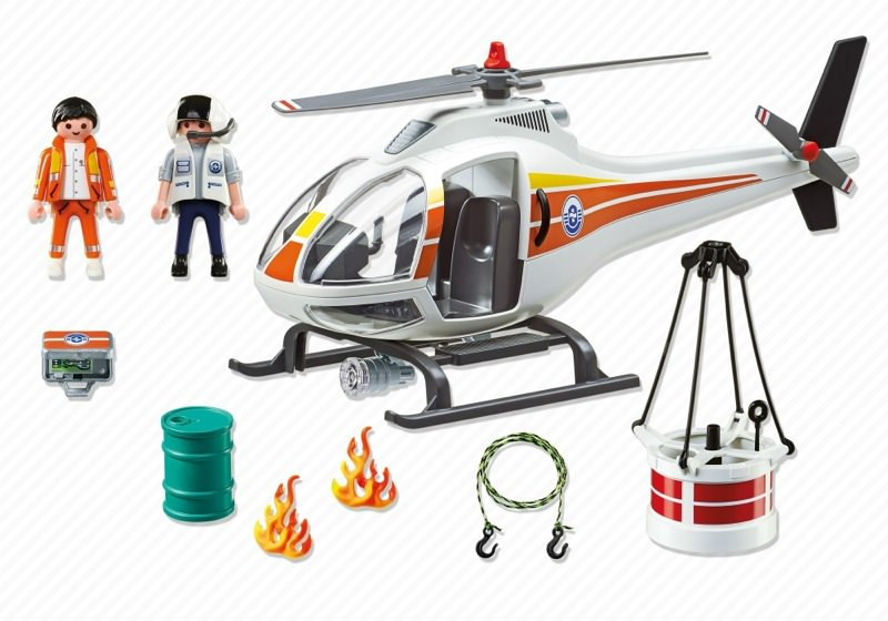 Playmobil 5542 - Fire Fighting Helicopter - Back