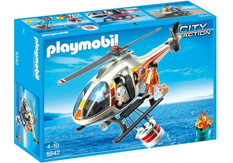 Playmobil 5542 - Fire Fighting Helicopter - Box