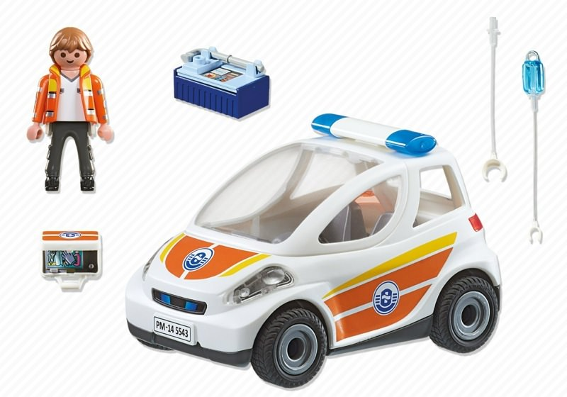 Playmobil 5543 - Emergency vehicle - Back