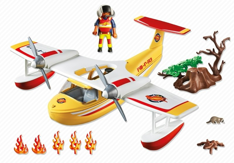Playmobil 5560 - Firefighting Seaplane - Back