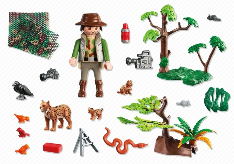 Playmobil 5561 - Lynx Family with Cameraman - Back