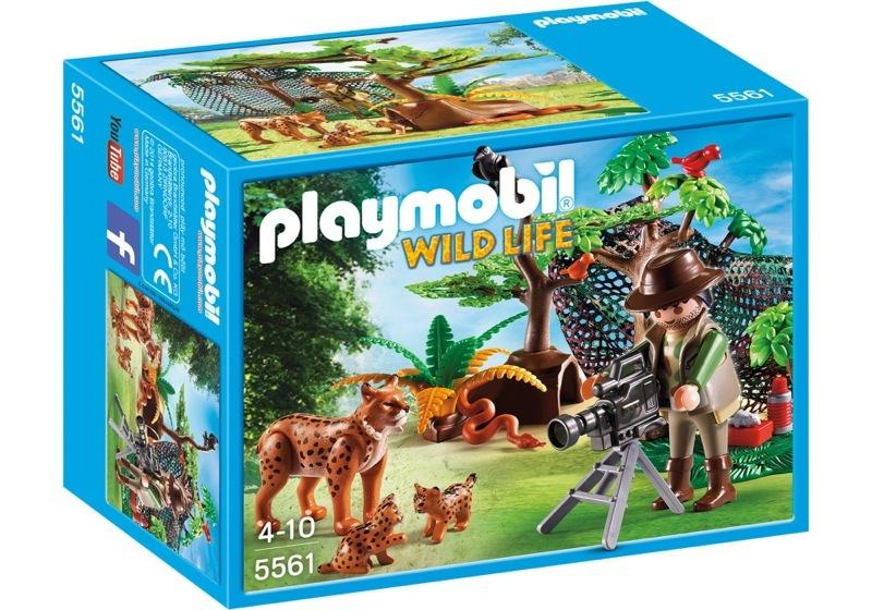 Playmobil 5561 - Lynx Family with Cameraman - Box