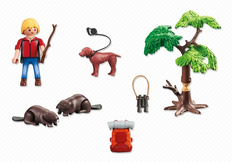 Playmobil 5562 - Beavers with Backpacker - Back