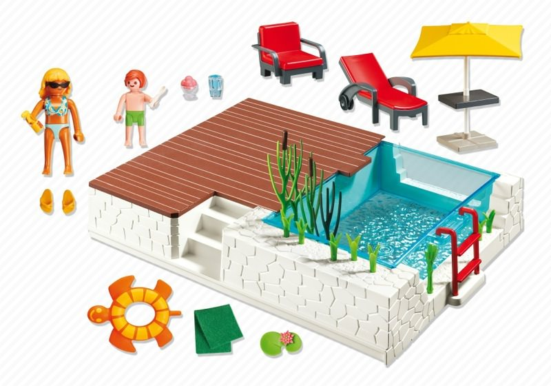 Playmobil 5575 - Swimmingpool with Terrace - Volver