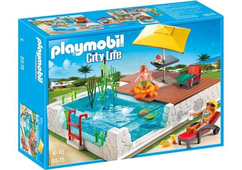 Playmobil 5575 - Swimmingpool with Terrace - Caja