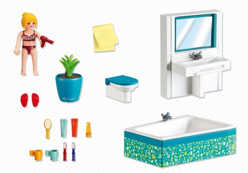 playmobil set 5577 modernes badezimmer klickypedia. Black Bedroom Furniture Sets. Home Design Ideas