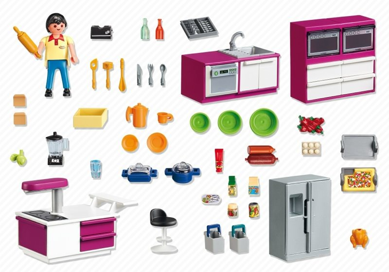 Playmobil 5582 - Modern Designer Kitchen - Back
