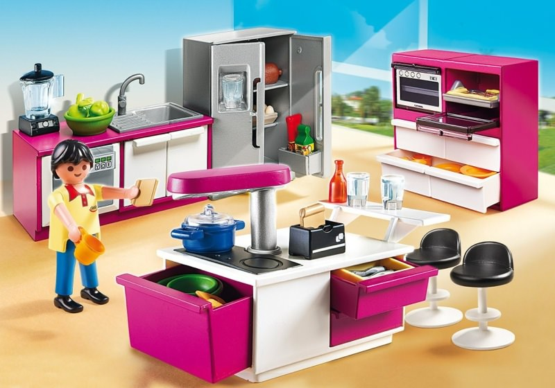 Playmobil set 5582 designerk che klickypedia for Cuisine playmobil