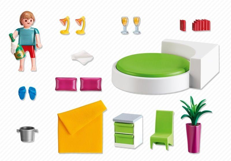Playmobil set 5583 bedroom klickypedia for Wohnzimmer 5584