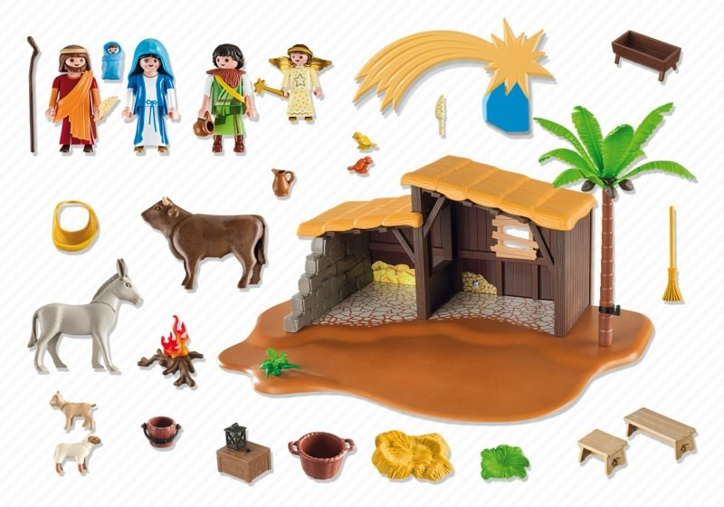 Playmobil 5588 - Nativity Stable with Manger - Back