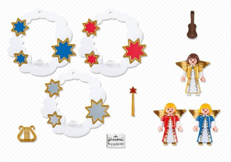 Playmobil 5591 - Christmas Angel Ornaments Set - Back