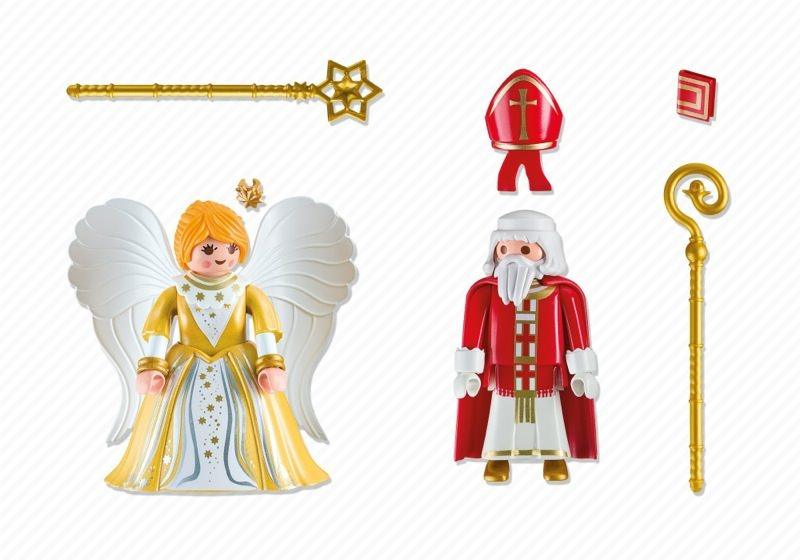Playmobil 5592 - St. Nicholas & Christmas Angel - Back