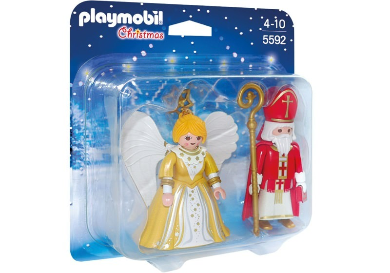 Playmobil 5592 - St. Nicholas & Christmas Angel - Box