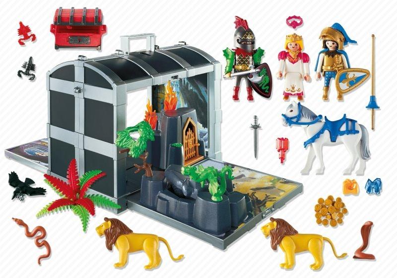 Playmobil 5784-usa - Knight's Battle Chest - Back