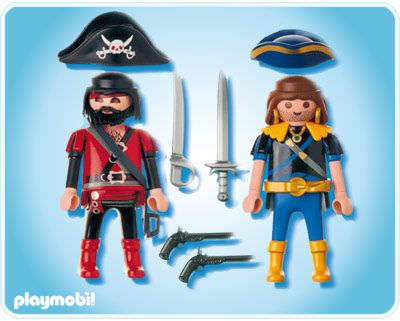 Playmobil 5814-ger - pirate and corsair blister - Back
