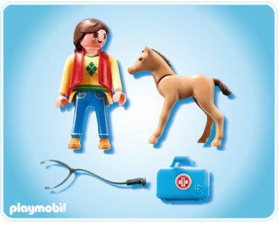 Playmobil 5820 - Vet and Colt Pack - Back