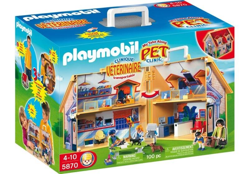 Playmobil 5870-usa - Take-a-long Pet Clinic - Box