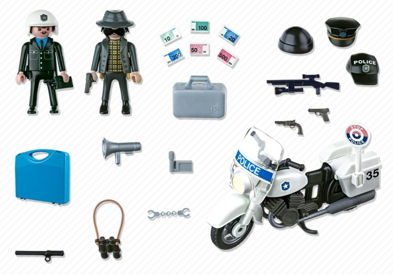 Playmobil 5891-usa - Carrying Case Police - Back