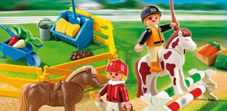 Playmobil - 5893 - Carrying Case Pony Farm