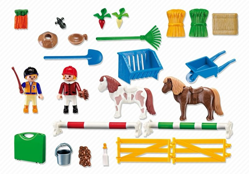 Playmobil 5893-usa - Carrying Case Pony Farm - Back