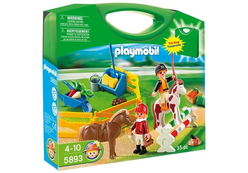 Playmobil 5893 - Carrying Case Pony Farm - Box