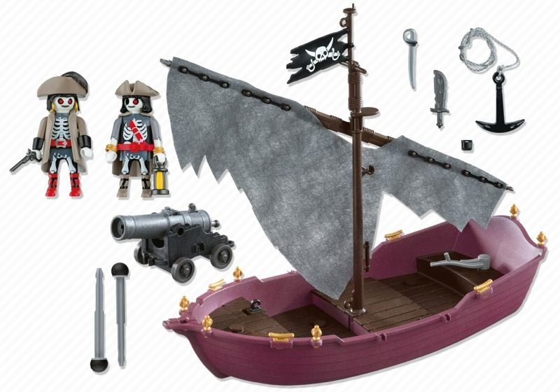 Playmobil 5901 - Ghost Pirate Ship - Back