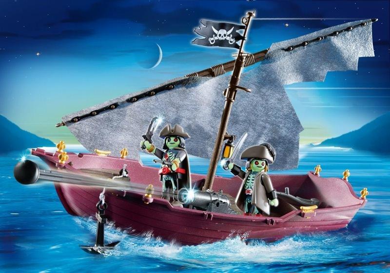 Playmobil set 5901 ghost pirate ship klickypedia for Barco pirata playmobil