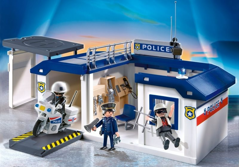 playmobil 5917 police take along station - Playmobile Police