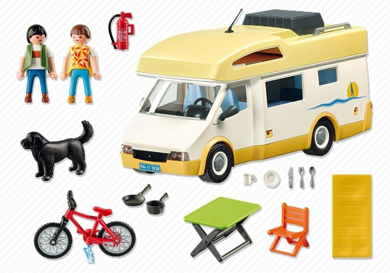 Playmobil 5928v1-usa - Camper - Back