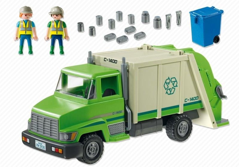 Playmobil 5938-usa - Garbage Truck - Back