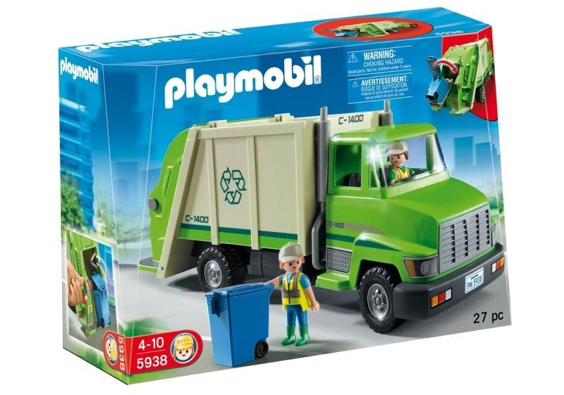 Playmobil 5938-usa - Camion poubelle - Boîte