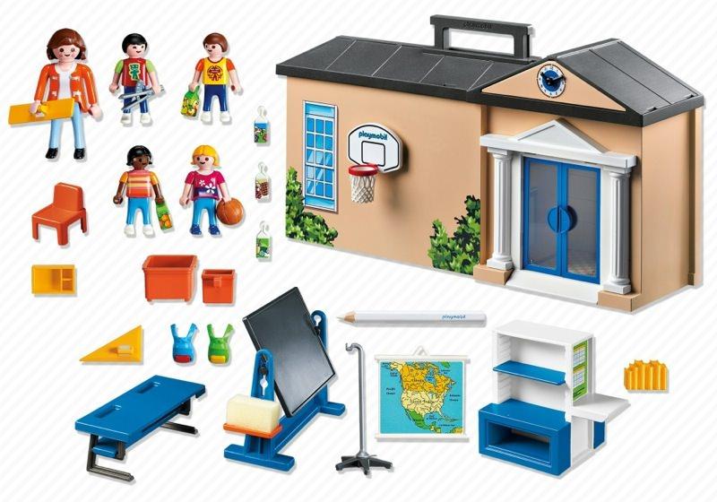 Playmobil 5941-usa - Take-Along School - Back