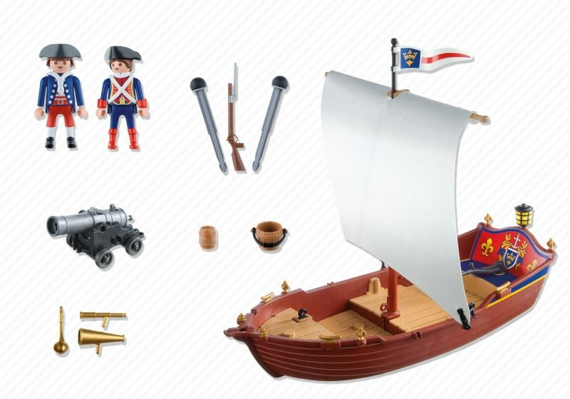 Playmobil 5948-usa - soldiers' boat - Back