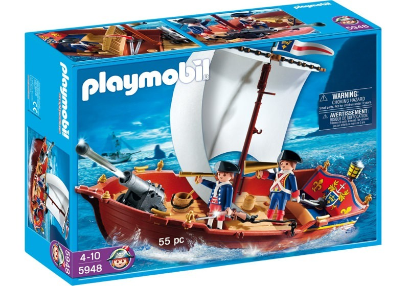 Playmobil 5948-usa - soldiers' boat - Box