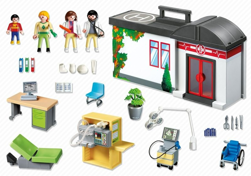 Playmobil 5953 - Take-Along Hospital - Back