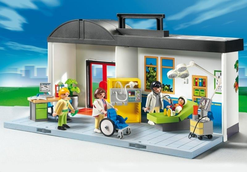 Playmobil set 5953 take along hospital klickypedia for Hospital de playmobil