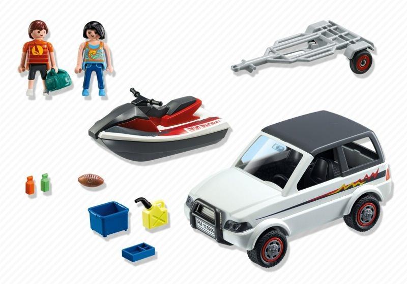 Playmobil 5965 - Family SUV with jet-ski - Back