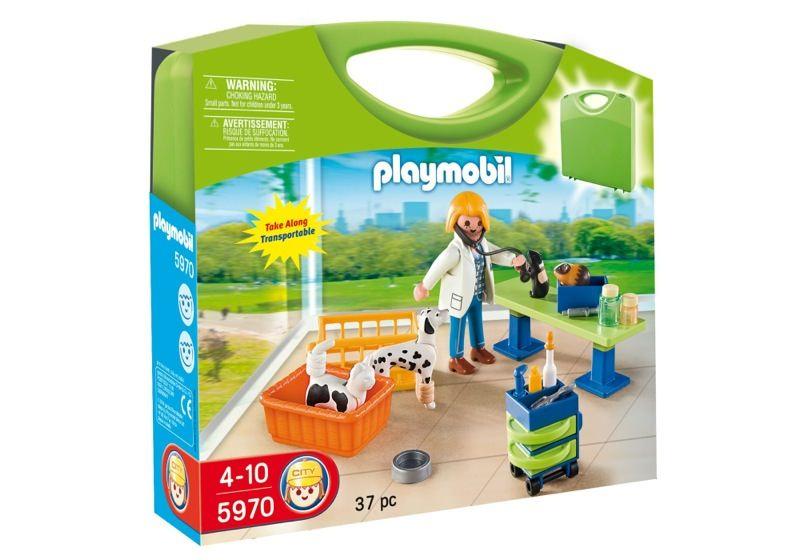 Playmobil 5970 - Carrying Case Vet Clinic - Box