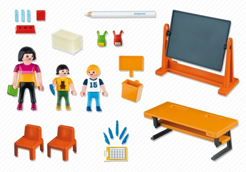 Playmobil 5971 - Carrying Case School - Back